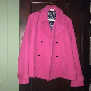 Crown and Ivy Pink Elephant Coat